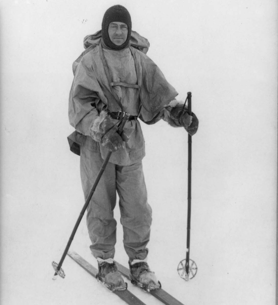 Scott on skis near Cape Evans, 191