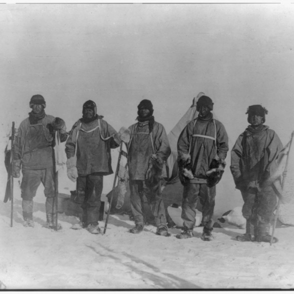 Scott with team at the South Pole